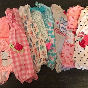 Romper and Bodysuit Baby Girl 8 Piece Bundle